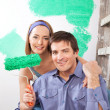Home Improvement Couple — Stock Photo