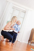 Mother and child at home — Stock Photo