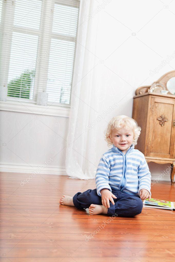 Kid Sitting On Floor Stock Photo Simplefoto 6575458