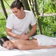 Royalty-Free Stock Photo: Outdoor Massage Therapy