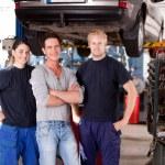 mechanik sklep portret — Zdjęcie stockowe
