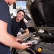 Man Woman mechanic Team — Stock Photo