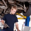 Mechanic with Laptop - Photo