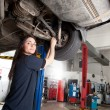 Woman Mechanic Portrait — Stock Photo
