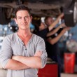 Foto Stock: Mechanic Man Portrait