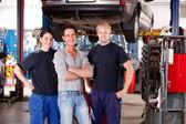 Mechanic Shop Portrait — Stock Photo