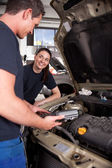 Man Woman mechanic Team — Stock Photo