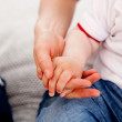 Mother and Son hands — Stock Photo