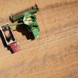 Grain Truck and Harvester — Stock Photo