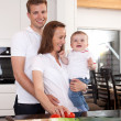 Family Portrait in Kitchen — Stock Photo #6604126
