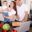 Family Fun in Kitchen — Stock Photo