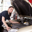Stock Photo: Mechanic Woman