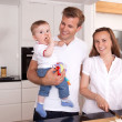 Happy Couple with Child — Stock Photo