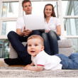 Family with Computer — Stock Photo #6605560