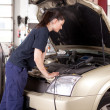 Stock Photo: Woman Tuning Car