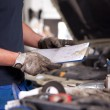 Stock Photo: Mechanic Service Order