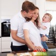 Healthy Family at Home — Stock Photo