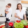 Family in Kitchen — Stock Photo #6608113