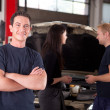 Stock Photo: Friendly Happy Mechanic