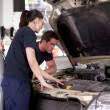 Man Woman Mechanic — Stock Photo