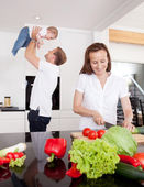 Family Fun at Home — Stock Photo