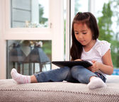 Child Using Digital Tablet — Stock Photo