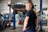 Portrait of Mechanic — Stock Photo