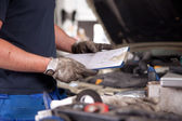 Mechanic Service Order — Stock Photo
