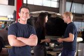 Friendly Happy Mechanic — Stock Photo
