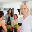 Woman at Party — Stock Photo