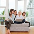Women using laptop — Stock Photo #6611755