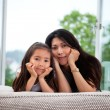 Stock Photo: Portrait of mother and daughter