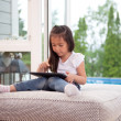 Child Playing with Digital Tablet — Stock Photo