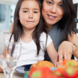 Cute mother and daughter — Stock Photo