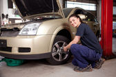 Female Mechanic — Stockfoto