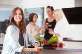 Casual party at home — Stock Photo
