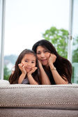 Portrait of mother and daughter — Foto de Stock