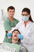 Patient having dental check up — Stock Photo
