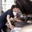 Attractive Woman Mechanic — Stock Photo