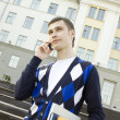 Stock Photo: Student man talking on the phone