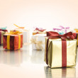 Lots of colorful gift boxes — Photo