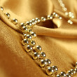 Stock Photo: Background of gold cloth