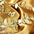 Background of gold cloth — Stock Photo