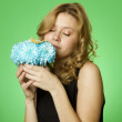 Woman with flowers — Stock Photo #5866885