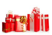 Many gift boxes of different sizes — Stock Photo