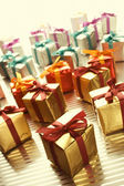 Lots of colorful gift boxes — Zdjęcie stockowe