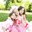 Children's Birthday Party outdoors — Zdjęcie stockowe #5910739