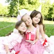 Children's Birthday Party outdoors — Stok fotoğraf