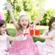 Children's Birthday Party outdoors — стоковое фото #5910740