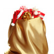 Big bag with gifts — Stock Photo